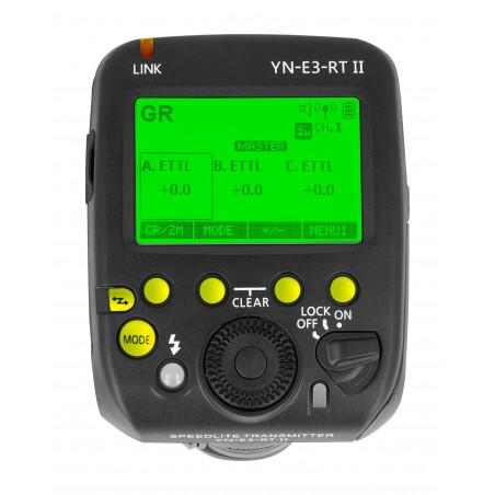 Kontroler radiowy Yongnuo YN-E3-RT II do Canon panel sterowania LCD