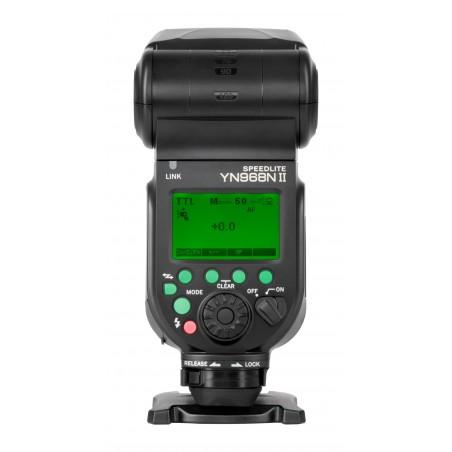 Lampa błyskowa Yongnuo YN968N II do Nikon tył panel sterowania LCD