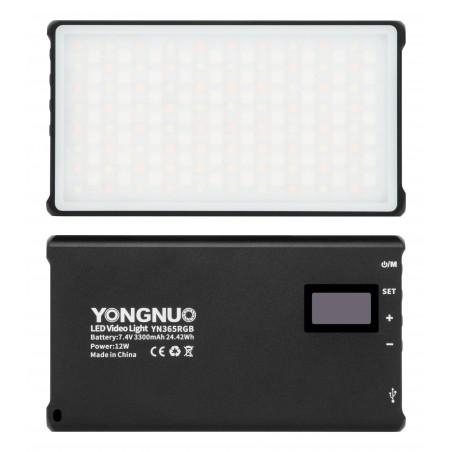 Lampa LED Yongnuo YN365 RGB front tył