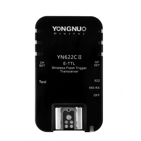 Zestaw dwóch wyzwalaczy radiowych Yongnuo YN622C II do Canon front