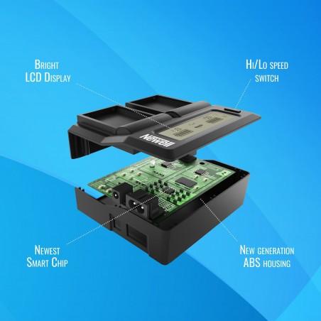 Ładowarka dwukanałowa Newell DC-LCD do akumulatorów NP-FZ100 - Zdjęcie 6