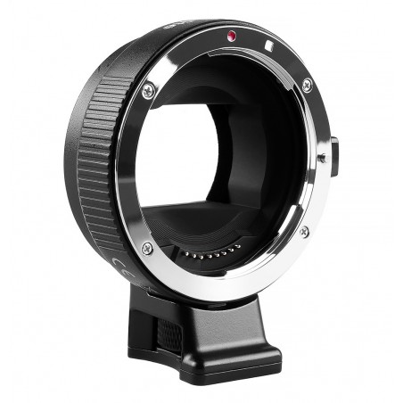 Adapter bagnetowy Commlite CoMix CM-EF-NEX - Canon EF / Sony E, czarny - Zdjęcie 1