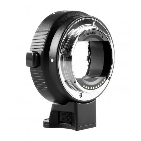 Adapter bagnetowy Commlite CoMix CM-EF-NEX - Canon EF / Sony E, czarny - Zdjęcie 2