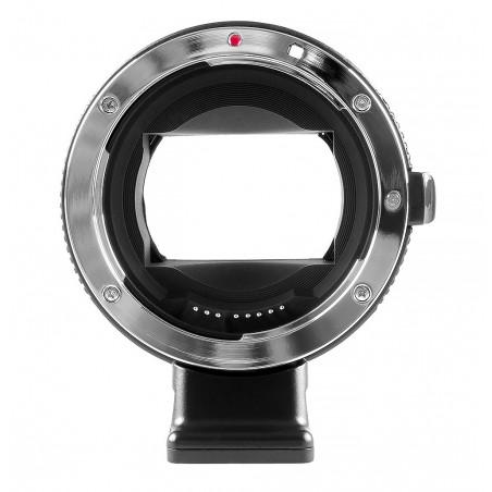 Adapter bagnetowy Commlite CoMix CM-EF-NEX - Canon EF / Sony E, czarny - Zdjęcie 3