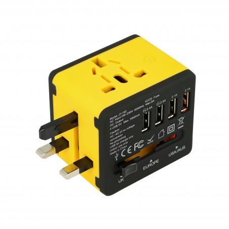 Adapter sieciowy z USB dla podróżujących Superbee JY-192 - czarny - Zdjęcie 1