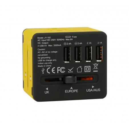 Adapter sieciowy z USB dla podróżujących Superbee JY-192 - czarny - Zdjęcie 2
