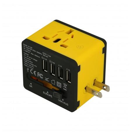 Adapter sieciowy z USB dla podróżujących Superbee JY-192 - czarny - Zdjęcie 3
