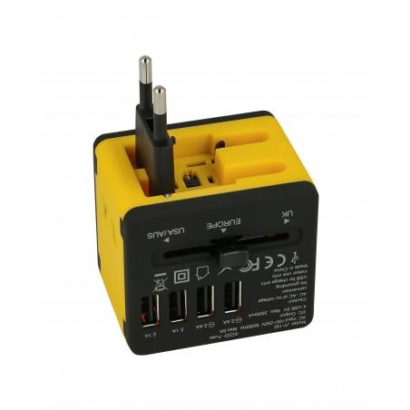 Adapter sieciowy z USB dla podróżujących Superbee JY-192 - czarny - Zdjęcie 5
