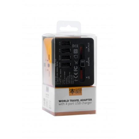 Adapter sieciowy z USB dla podróżujących Superbee JY-192 - czarny - Zdjęcie 7