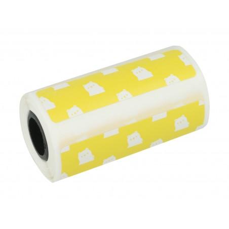 Papier termiczny Peripage naklejka - wzór - żółta - Zdjęcie