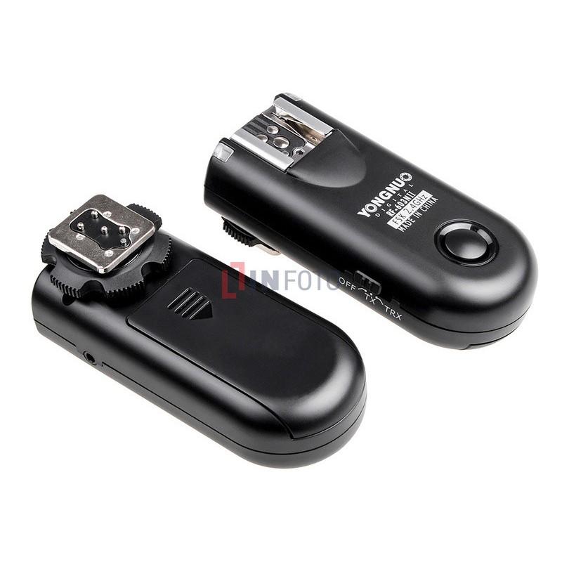Zestaw dwóch wyzwalaczy radiowych Yongnuo RF603N II z kablem N3 do Nikon front tył