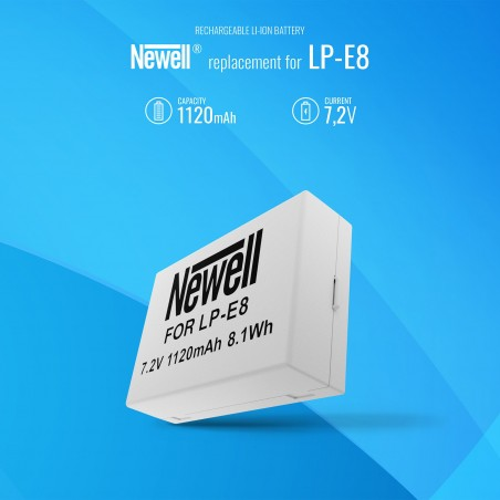 Akumulator Newell zamiennik LP-E8 - Zdjęcie 5