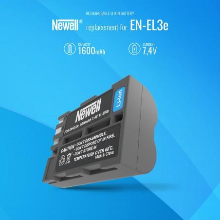 Akumulator Newell zamiennik EN-EL3e - Zdjęcie 5