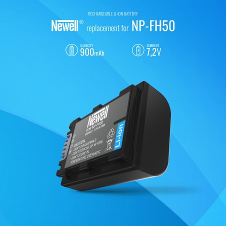 Akumulator Newell zamiennik NP-FH50 - Zdjęcie 5