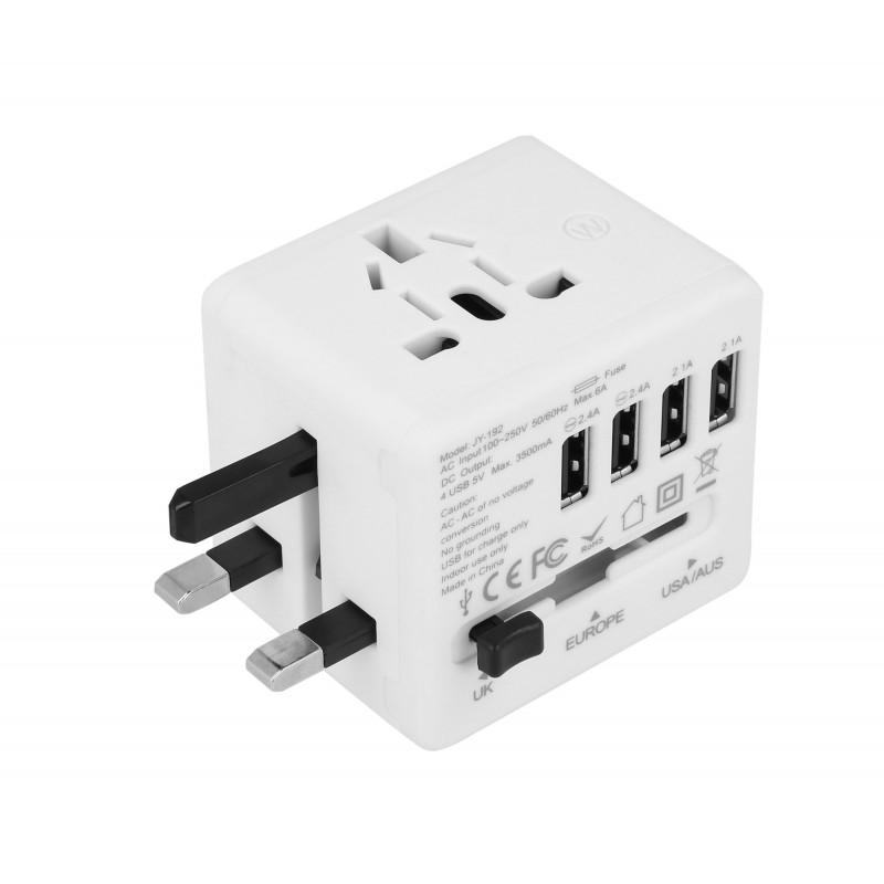 Adapter sieciowy z USB dla podróżujących Superbee JY-192 - biały - Zdjęcie 1