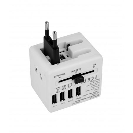 Adapter sieciowy z USB dla podróżujących Superbee JY-192 - biały - Zdjęcie 2