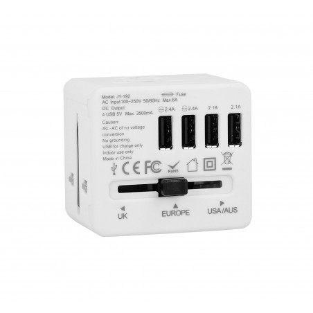 Adapter sieciowy z USB dla podróżujących Superbee JY-192 - biały - Zdjęcie 3
