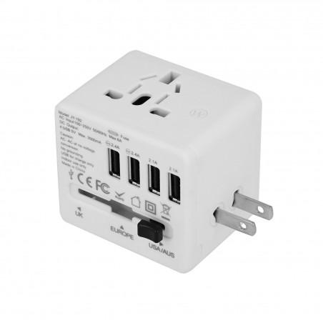 Adapter sieciowy z USB dla podróżujących Superbee JY-192 - biały - Zdjęcie 4
