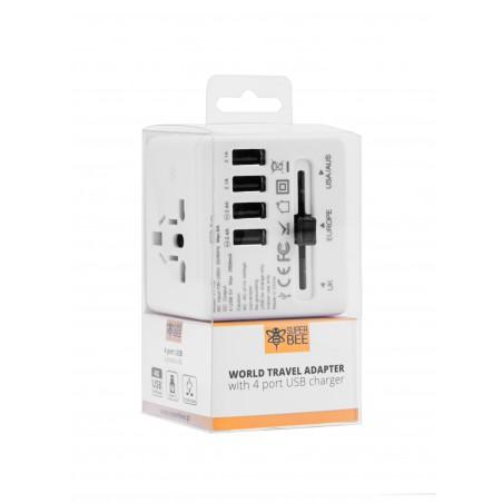 Adapter sieciowy z USB dla podróżujących Superbee JY-192 - biały - Zdjęcie 6