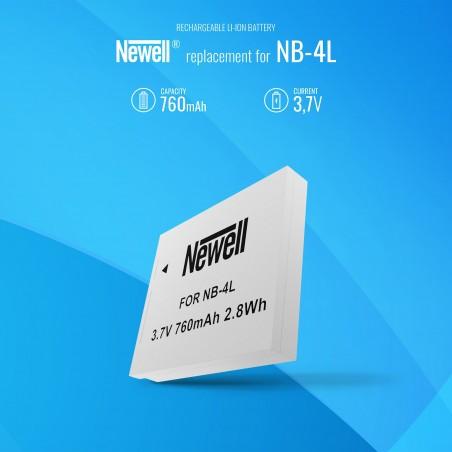 Akumulator Newell zamiennik NB-4L - Zdjęcie 5