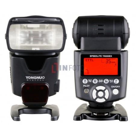 Lampa błyskowa Yongnuo YN500EX do Canon front tył panel sterowania LCD