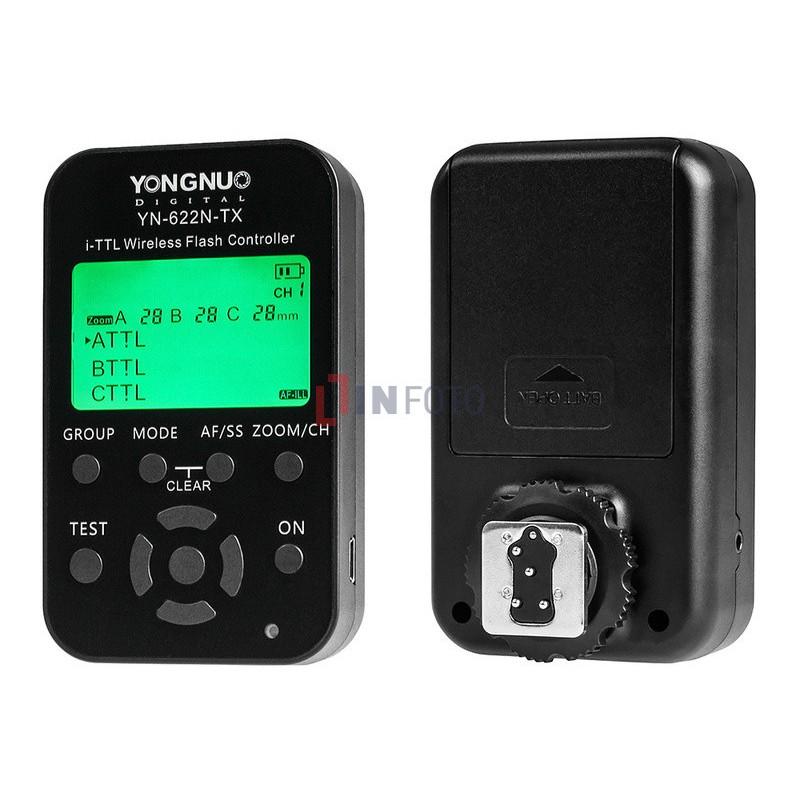 Kontroler wyzwalaczy radiowych Yongnuo YN622N-TX do Nikon przód tył