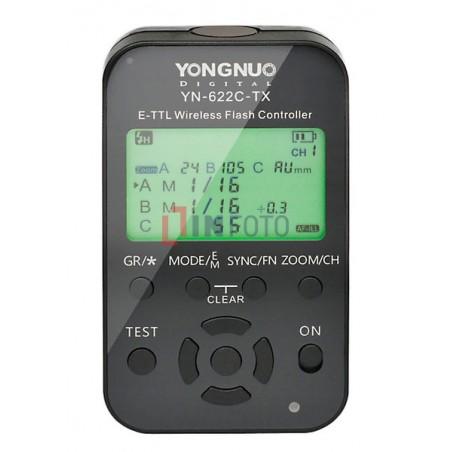 Kontroler wyzwalaczy radiowych Yongnuo YN622C-TX do Canon panel sterowania wyświetlacz LCD włączony